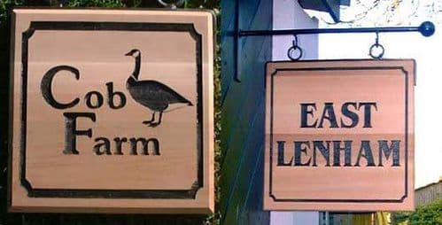 Double-Sided Red Cedar Wood Hanging Signs  | The Sign Maker Shop